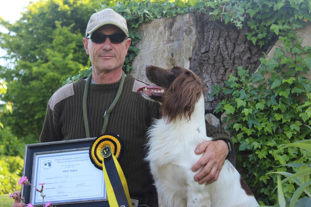 Gun Dog training first place award picture